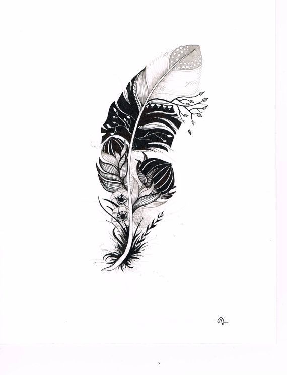 Original India Ink drawing or tattoo design by SlowDesigns on Etsy. Id ...