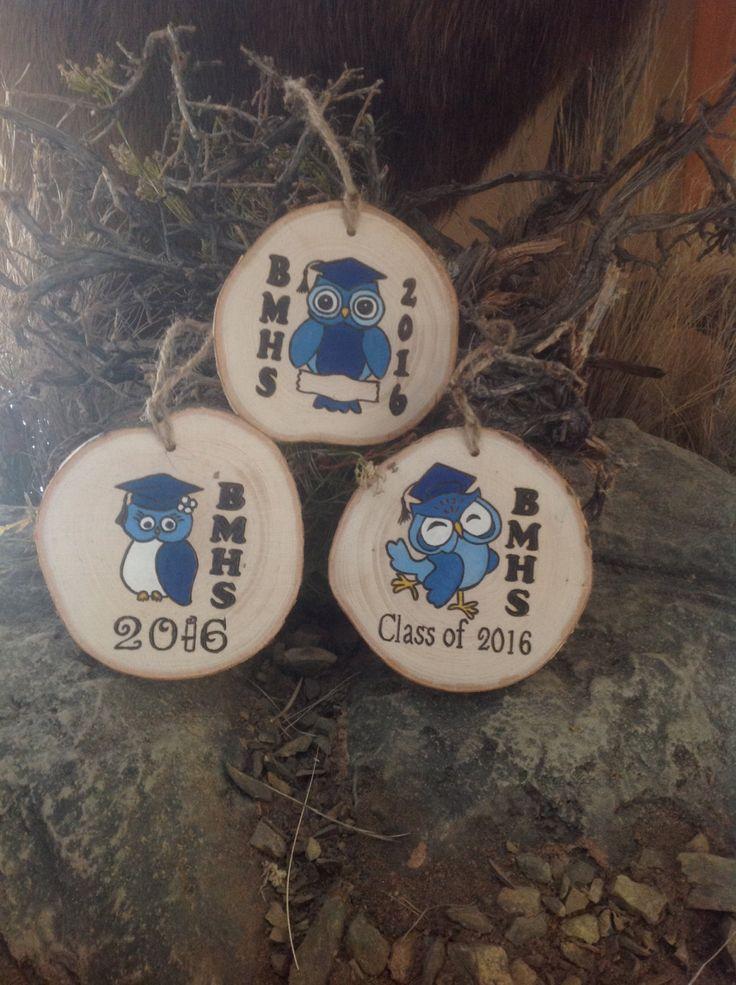 Personalized Graduation Ornament - Wood Burned Ornament - 2016 0wl Graduation Ornaments by BurnwoodCreations on Etsy