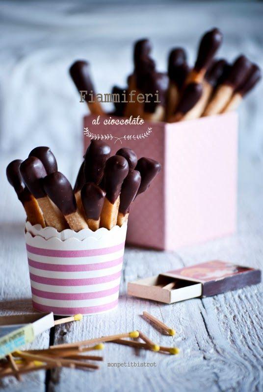 Mon petit bistrot: Fiammiferi al cioccolato di Montersino