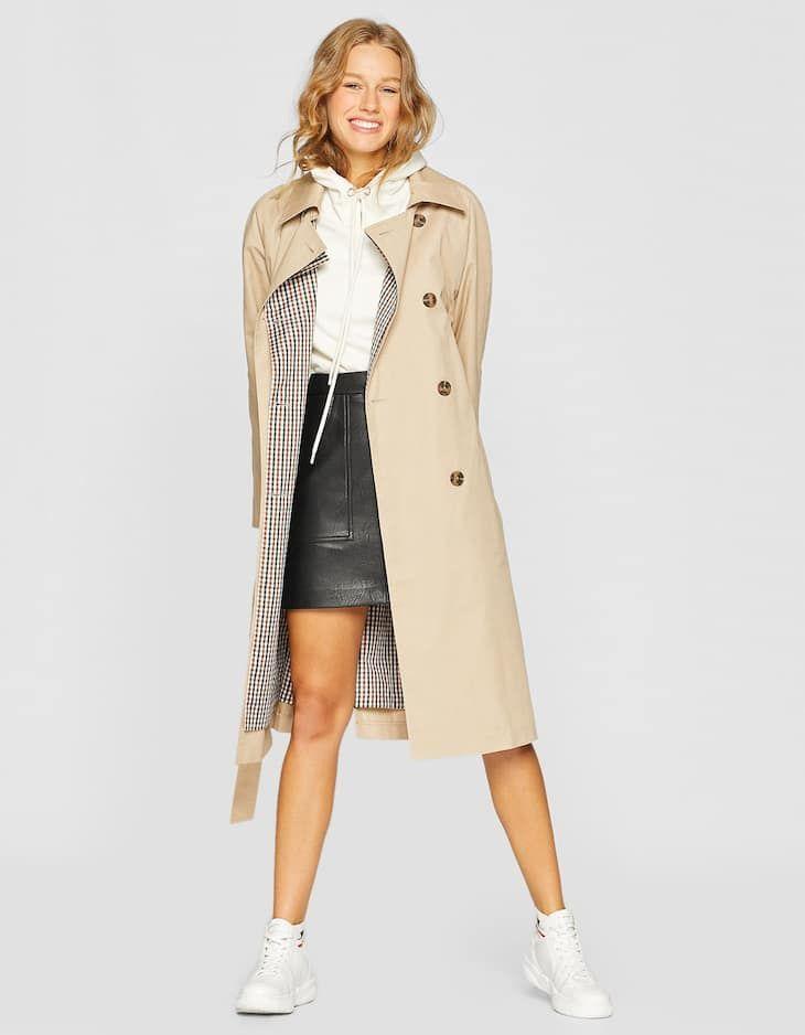 Manteau trench laine à carreaux tendance pour homme – URBAN