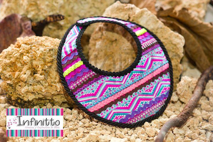 Pectoral Pijao tribal.   Para más información acerca de nuestros accesorios visita nuestra página infinittoaccesorios.com.
