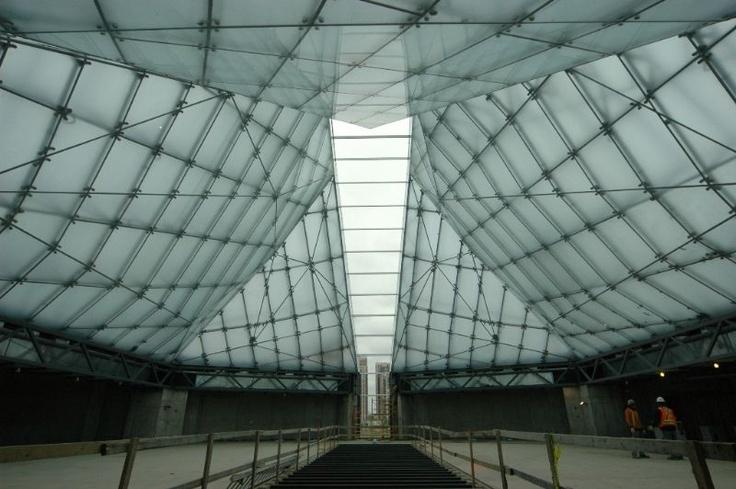 Jan 2012: Interior view of the Jamatkhana prayer hall of the Ismaili Centre, Toronto, looking towards qibla. Photo: Imara Wynford Drive Ltd / Moez Visram