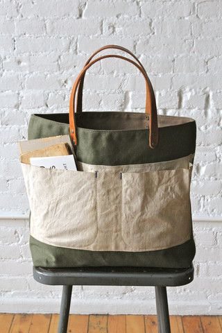 WWII era Canvas and Work Apron Tote Bag -  Forestbound.com