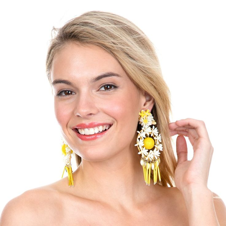 Yellow Margarita Mora Earrings