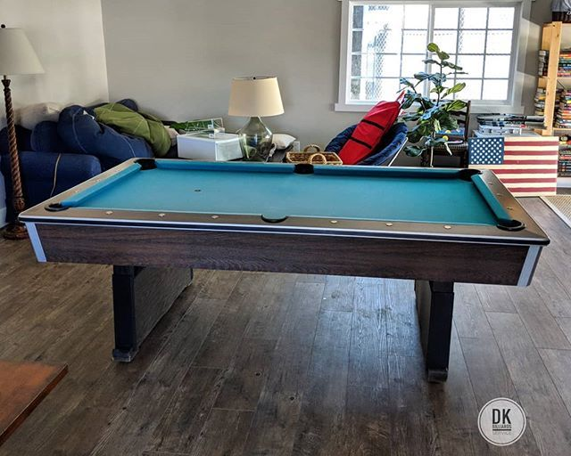 Finished Installing This 7 Foot One Piece Slate Delta Pool Table In Villa Park 35 Years Old And Still Has Good Cushion Rubber Standard Green Felt