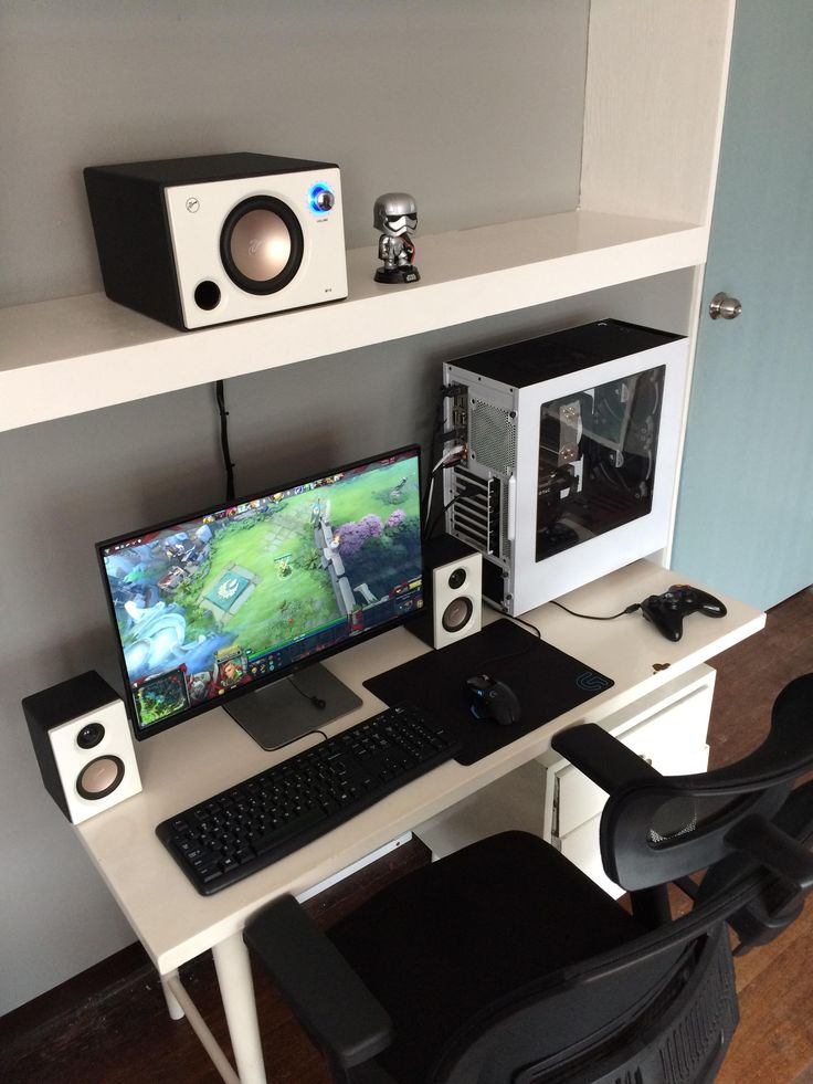 1782 besten desk setups and pc builds bilder auf pinterest schreibtisch setup gamer zimmer. Black Bedroom Furniture Sets. Home Design Ideas