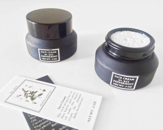 Mens Face Cream - Mens Face Moisturizer - Mens Face Lotion - Antioxidant Face Cream - Natural Skincare for Him - Peppermint