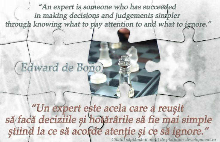Expertul – Edward de Bono