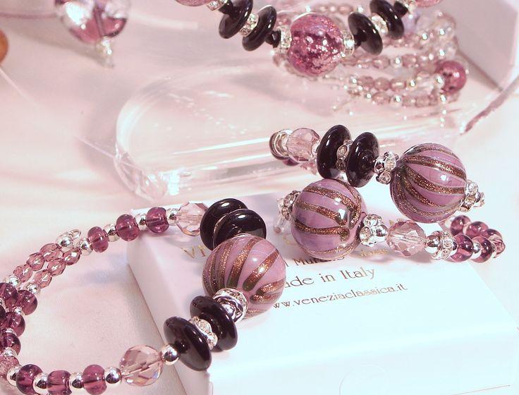 Bracciali/Bracelets PERLAGE_2  Original Murano Glass Hand Made in Italy