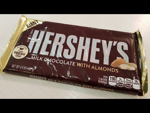 Hershey's Giant Milk Chocolate with Almonds Unboxing Product Opening