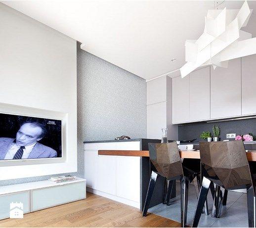 Nowoczesny apartament - Kuchnia, styl nowoczesny - zdjęcie od Maria Jachalska