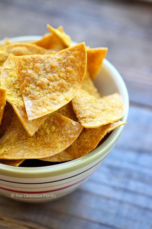 Clean Eating Doritos? Oh, yes!!! Get in ma belleh!! These delicious healthy chips are the perfect replacement for junky, chemical-filled Doritos, and they are super easy to make! ~ http://www.thegraciouspantry.com