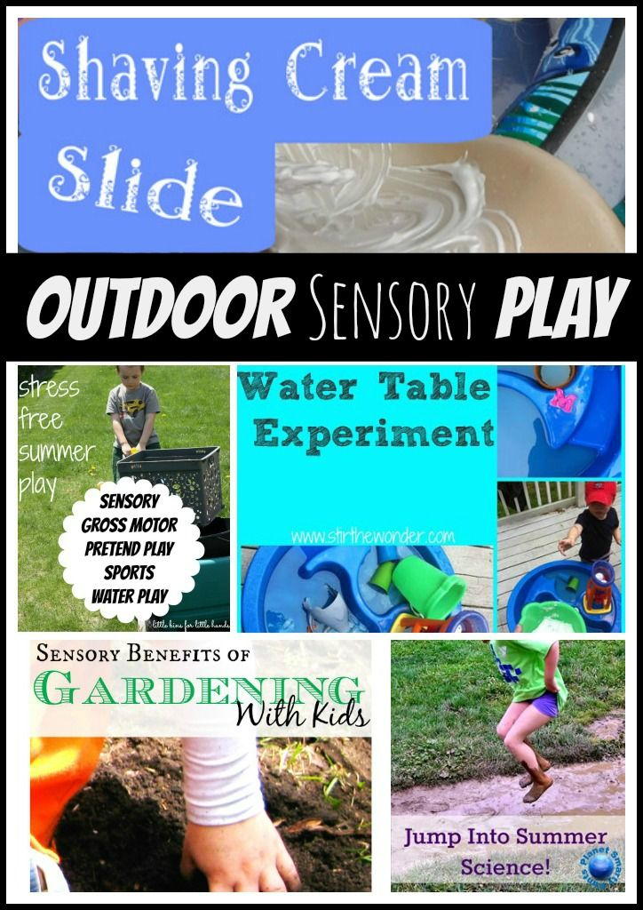 Tactile Outdoor Sensory Play {Hands On Play Party}