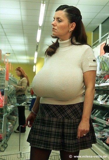 Big tit milf sweater dress
