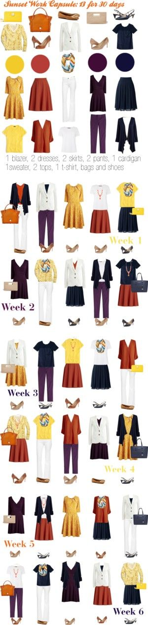 Sunset Work Capsule by kristin727 on Polyvore featuring J.Crew, Lands' End, Effie's Heart, DL1961 Premium Denim, MaxMara, Sylvia Alexander, Ivanka Trump, Tory Burch, Cole Haan and Dooney & Bourke
