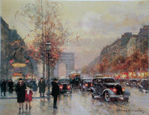 painting by Edouard-Leon Cortes
