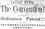 The May 22, 1861, New Bern Daily Progress announces North Carolina's secession from the Union