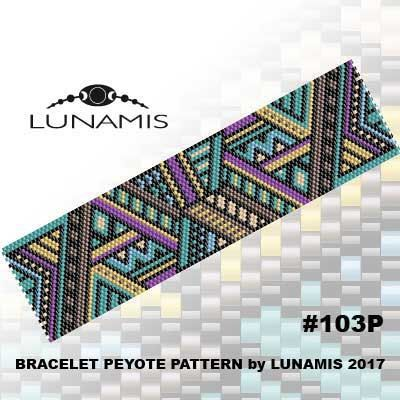 PATTERN ONLY. Create this beautiful peyote cuff bracelet.  Miyuki Delica Beads size 11/0 7 bead colors. 30 bead columns by 91 bead rows. Width: 1.6 (4,0 cm) Length: 6.4 (16,2 cm)   Patterns include: - Large colored numbered graph paper (and non-numbered in another files) - Bead legend (numbers and names of delica beads colors ) - Word chart - Pattern preview  This pattern is intended for users that have experience with even count peyote and the pattern itself does NOT include instruction...