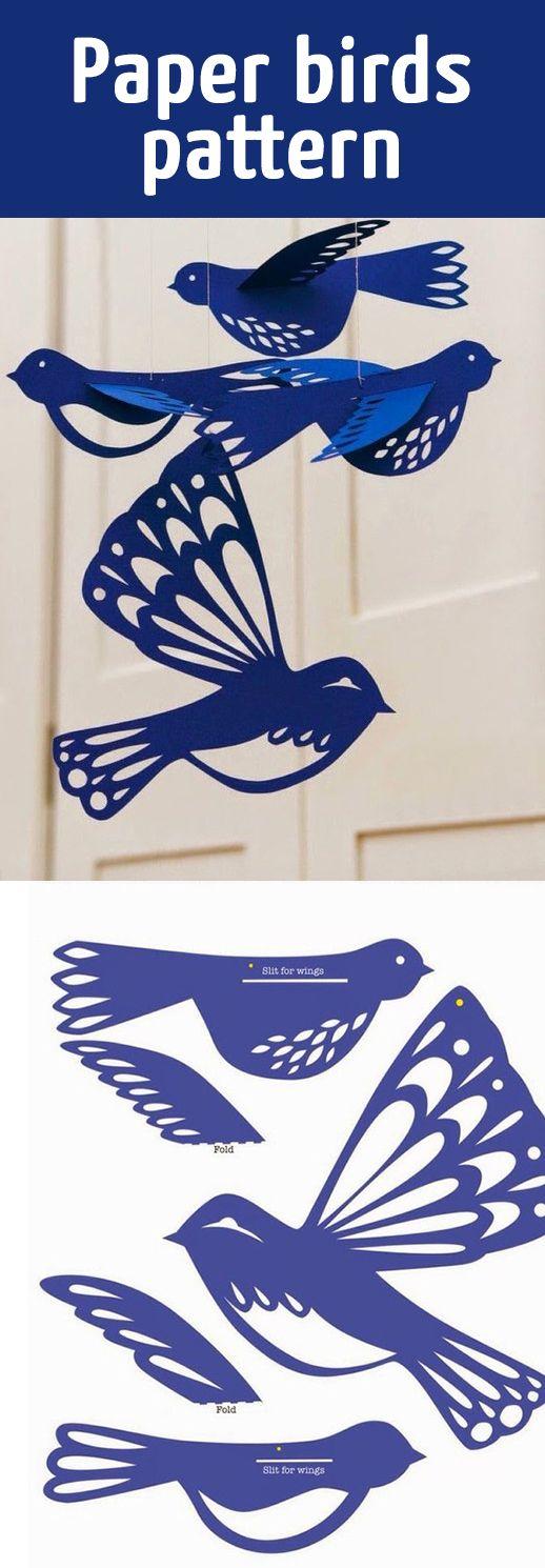 Paper birds pattern