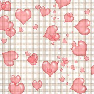 Directorio de Papel de la abuelita Enchanted: Corazones rosados libres en la tela escocesa de papel Scrapbook digital