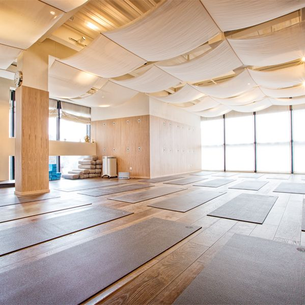 More yoga studios need to cover their lights. ..+ Yoga, Shanghai, By Red Design Consultants