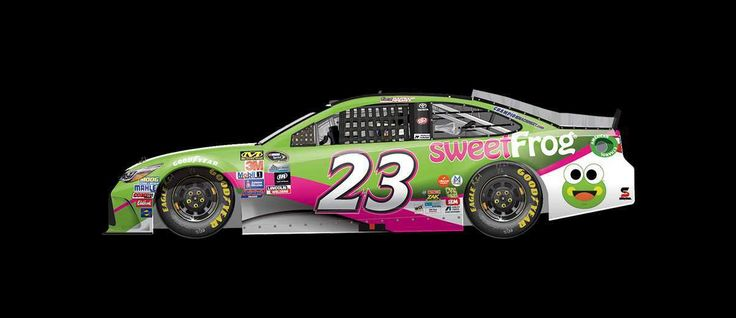 Best paint schemes of 2016  By Jessica Ruffin | Wednesday, December 14, 2016  David Ragan drove the No. 23 sweetFrog Toyota to a 24th-place finish at Talladega in October.