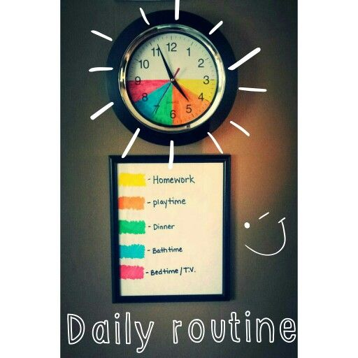 Color Coded Clock For Toddlers
