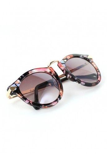 Flower Print Sunglasses.
