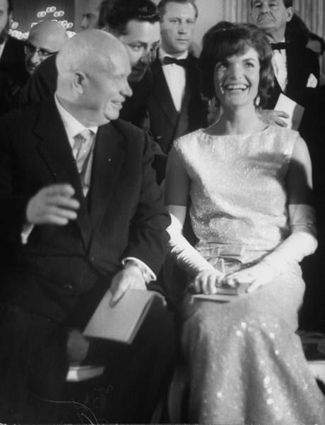 Image result for jackie kennedy and khrushchev