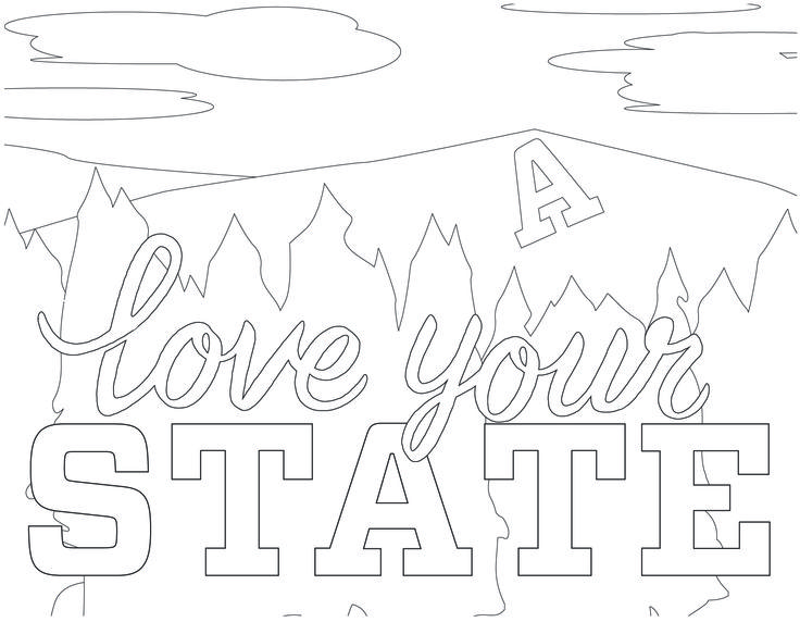 Print and color during a study break this week.
