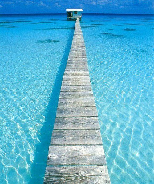 This would be my dream honeymoon destination.. In the middle of the sea with no one around