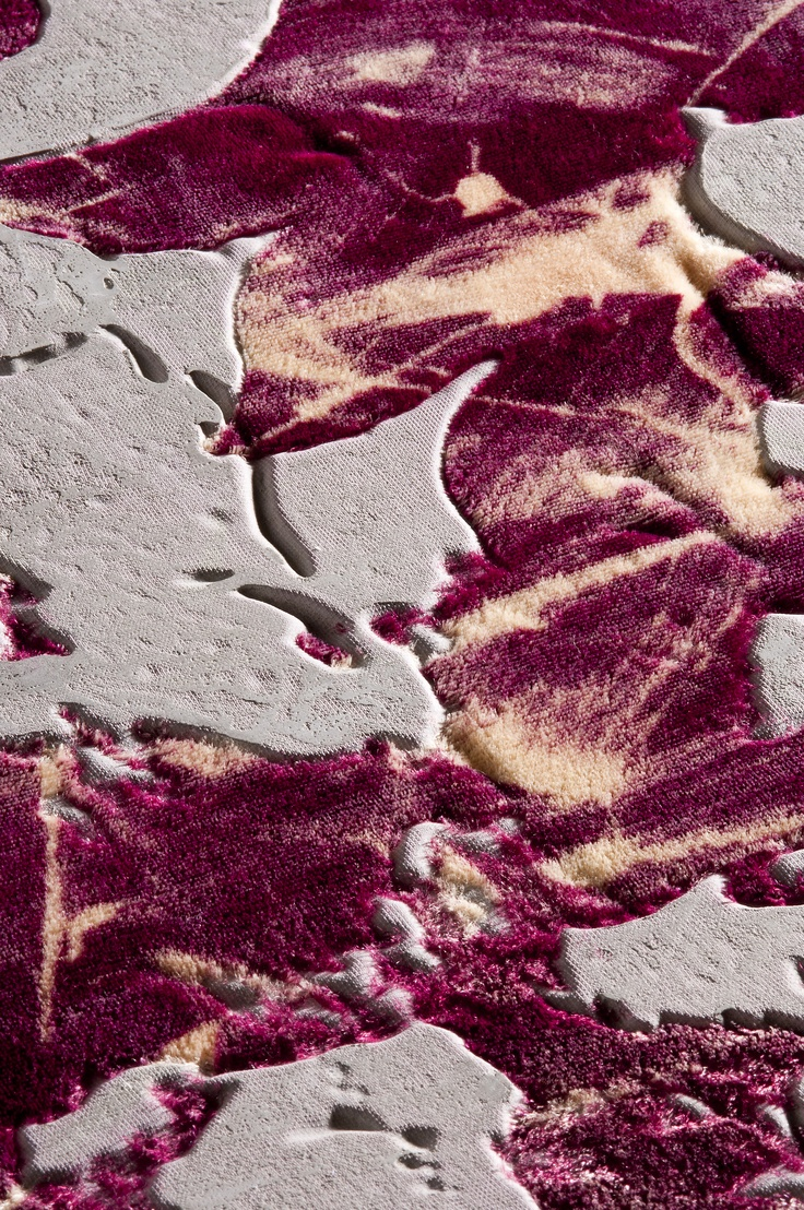velvet concrete I Lionnel's Study I distressed ruby