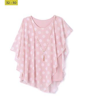 blush pink printed kaftan top
