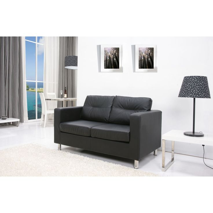 Detroit Black Loveseat (Gold Sparrow Detroit Black Loveseat) (Wood)
