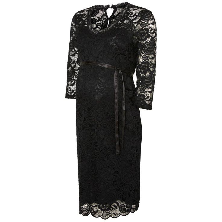 Mivana 3/4e party dress black - Trouw- en Feestkleding - Zwangerschapskleding - BellyFashion.nl