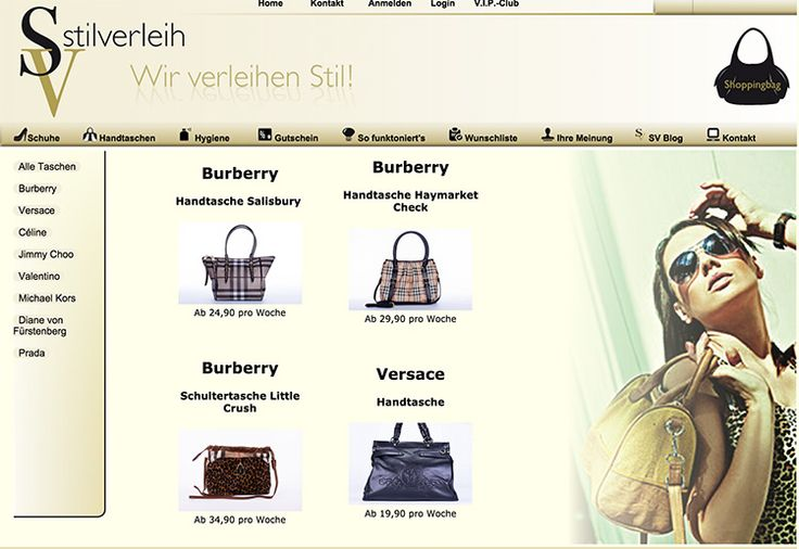 Designer Handtaschen und Schuhe mieten statt kaufen