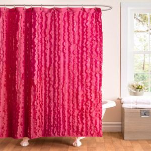 Essential Living Modern Chic Pink Shower Curtain