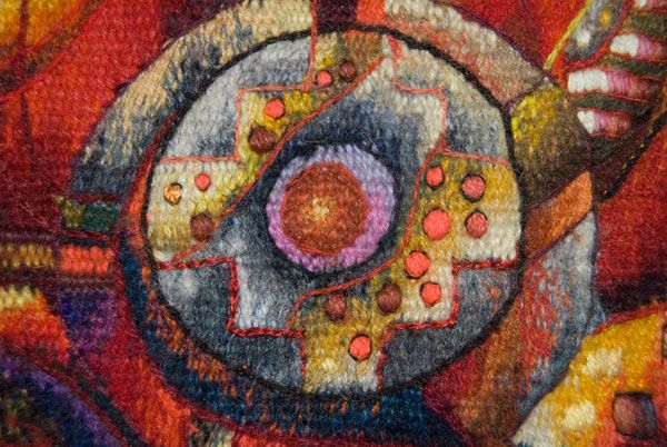 Tapestry Detail by Maximo Laura | Peruvian Contemporary Tapestry