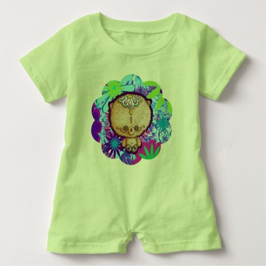 Hippy Bear Baby Bodysuit by I Love the Quirky. Available in other colours and sizes.