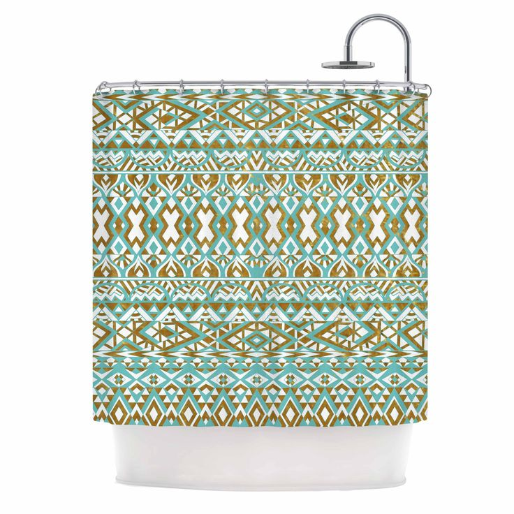 gold and brown shower curtain. Kess InHouse Pom Graphic Design Mint  Gold Tribals Teal Brown Shower Curtain Best 25 shower curtains ideas on Pinterest