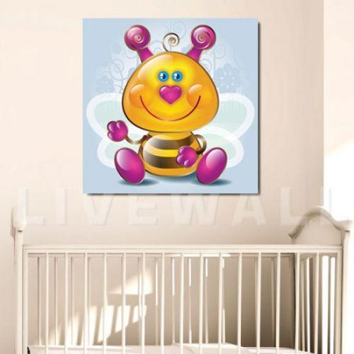 Παιδικός πίνακας σε καμβά μέλισσα