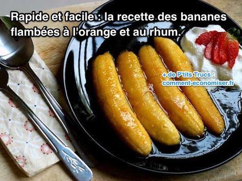 Vous avez des bananes trop mûres ? Et vous ne savez pas quoi en faire car personne ne veut les manger ? Alors, voici une recette facile et rapide pour utiliser les bananes qui ont noirci.  Découvrez l'astuce ici : http://www.comment-economiser.fr/rapide-et-facile-recette-des-bananes-flambees-orange-et-rhum.html?utm_content=bufferae857&utm_medium=social&utm_source=pinterest.com&utm_campaign=buffer
