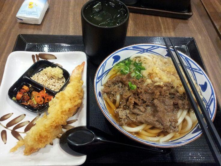 Niku Udon & Ebi Tempura @ Marugame Udon