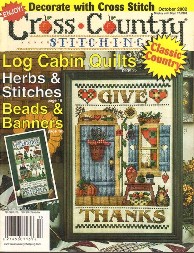 Cross Stitch Magazine Cross Country Stitching Cross Stiitch Magazine Oct 2002 #CrossCountryStitching