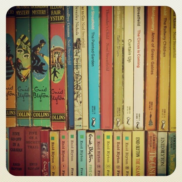 Enid Blyton Books  Blog post: Louise Marley: Ten Authors Who Influenced Me (or, You Are What You Read)  #writing #reading #vintage #childrens #books