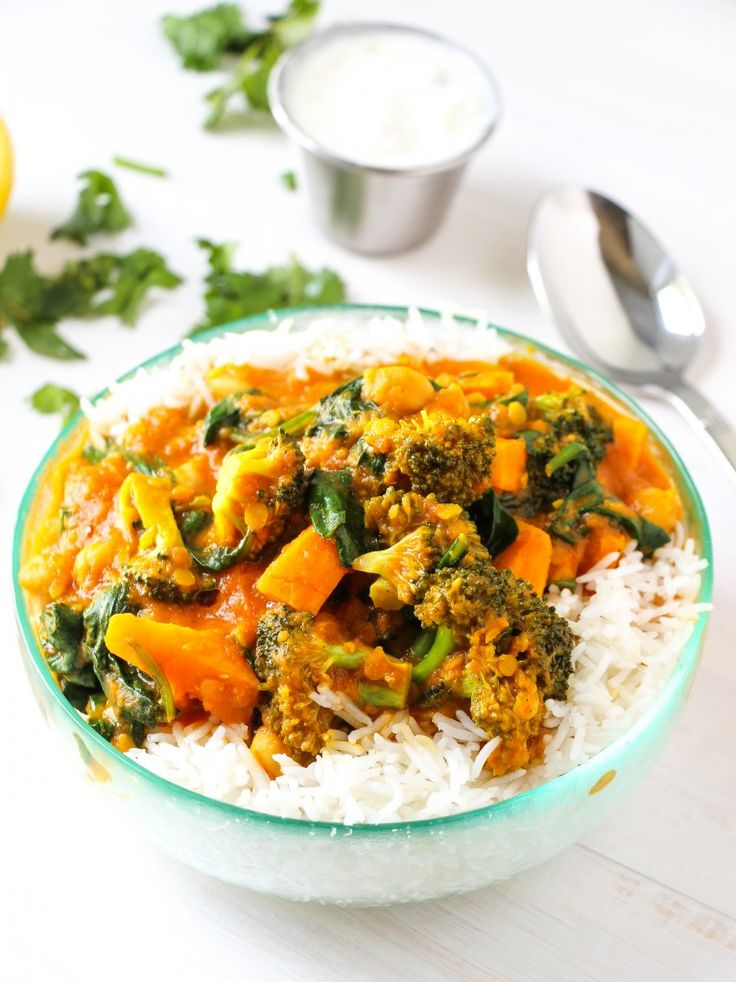 vegetable curry- can be w30 if served without the yogurt sauce and rice
