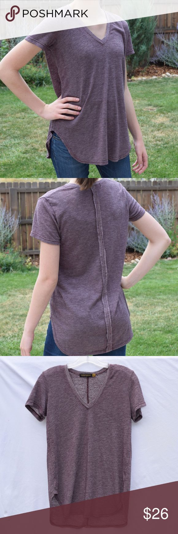 Saint Grace Long Seamed Purple Top Saint Grace Long Seamed Purple Top  -Excellent condition -Saint Grace brand -Comfy, quality material for a cute, loose fit -Goes well with jeans for a casual look or leggings for high comfort! Saint Grace Tops Tees - Short Sleeve