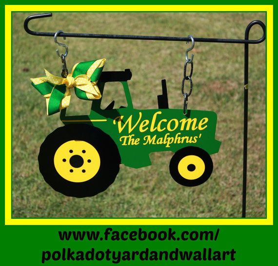 Ford Tractor Sayings : Custom metal tractor yard garden flag john deere
