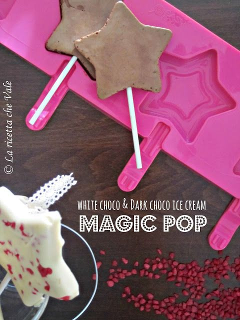 White choco & dark choco ice cream Magic Pop