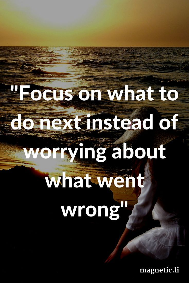 We all make mistakes, but don't dwell on them. Read my blog post to find out how to stop worrying and start living